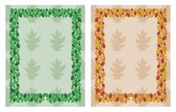 Oak Leaf Frame Border Stock Photos