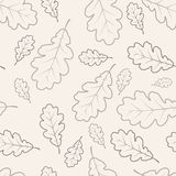 Oak leafs seamless pattern Royalty Free Stock Images