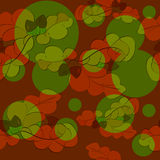 Oak leaves and acorns seamless pattern Stock Photos