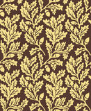 Oak leaves seamless pattern Royalty Free Stock Images