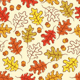Oak leaves seamless pattern. Stock Images