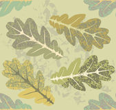 Oak leaves seamless pattern Royalty Free Stock Photo