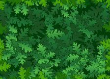 Oak leaves seamless texture Royalty Free Stock Photography