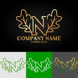 02_oak_letter_N illustration stock