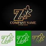 01_oak_letter_Z_01 illustration stock