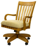 Oak Office Chair Royalty Free Stock Image