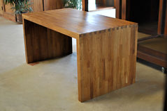 Oak office table. Nature oil finished Royalty Free Stock Photography