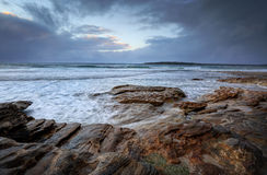 Oak Park, Cronulla on a rainy day with choppyn seas Royalty Free Stock Photo