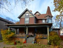 Oak Park Italianate Royaltyfri Foto