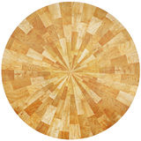 Oak pieces table. Round table made from recycled pieces of oak in natural colour Stock Images