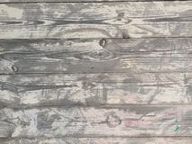 oak planks worn by time and the sun faded and dry Royalty Free Stock Images