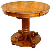 Oak Pub Table. With Self Storing Leaf Royalty Free Stock Photo