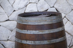 Oak rustic barrel top Stock Photography