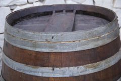 Oak rustic barrel top close up Royalty Free Stock Photography