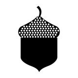 Oak seed isolated icon Stock Image