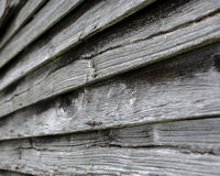 Oak shakes on a 100-year-old barn Royalty Free Stock Images