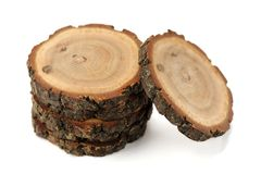 Free Oak Split With Growth Rings And Bark Isolated Royalty Free Stock Photos - 62356678
