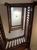 oak staircase Στοκ εικόνα με δικαίωμα ελεύθερης χρήσης