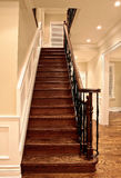 Oak stairs stock photo