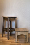 Oak stool Royalty Free Stock Photography