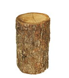 Oak stump, log fire wood isolated on white, with clipping path Stock Photos