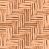 Oak Swallowtail Parquet Wooden Vector Seamless Pattern. Royalty Free Stock Images