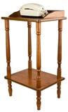 Oak Telephone Stand Table Furniture Stock Photo