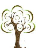 Oak tree. Vector image of oak tree with acorns royalty free illustration