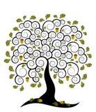 Oak tree. Illustrated abstract oak tree on white background vector illustration