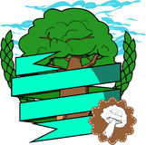 Oak tree badge Royalty Free Stock Image