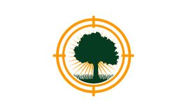 Oak Tree Center icon. Logo Design Template Vector Stock Photos