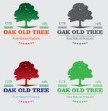 Oak Tree Logo Silhouette Royalty Free Stock Photography