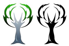 Oak tree tattoo Royalty Free Stock Image