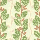 Oak trees pattern Royalty Free Stock Photos