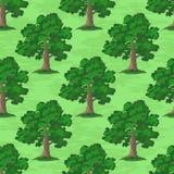 Oak Trees Seamless Stock Photo