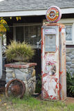 Oak View, California, USA, December 15, antique gas pump Stock Photography