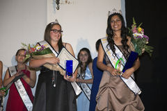 Oak View, California, USA, March 7, 2015, Miss Oak View Pageant of Excellence, Crowned winner of Teenage Beauty Contest Royalty Free Stock Photography