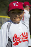 Oak View, California, USA, March 7, 2015, Ojai Valley Little League Field,youth Baseball, Spring, hispanic child, closeup Stock Images