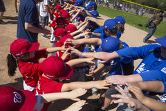 Oak View, California, USA, March 7, 2015, Ojai Valley Little League Field,youth Baseball, Spring welcoming Tee-Ball Division Stock Photography