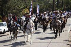 Oak View, California, USA, May 24, 2015, Memorial Day Parade, hispanic horseback riders Royalty Free Stock Photos