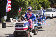 Oak View, California, USA, May 24, 2015, Memorial Day Parade, with Uncle Sam Stock Photos