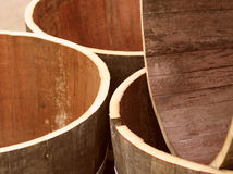 Oak wine barrel. Jumble of empty oak wine barrels at a winery in New South Wales, Australia Royalty Free Stock Photo