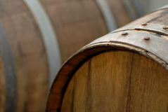 Oak Wine Barrel Stock Photo