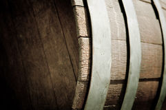 Oak Wine Barrel Close Up Royalty Free Stock Photos