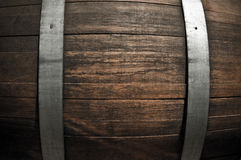 Oak Wine Barrel Close Up. Wooden Oak Wine Barrel Close Up Stock Photos