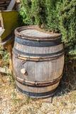 Oak wine barrel Stock Photo