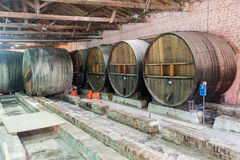 Oak Wine Barrels Mendoza Argentina Royalty Free Stock Photography