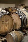Oak wine barrels Royalty Free Stock Photo