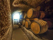 Oak wine barrels Royalty Free Stock Photos