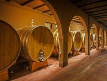 Oak wine barrels Royalty Free Stock Photography